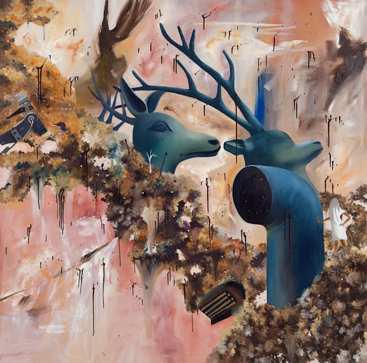 M65, Oil on canvas, 130.3x130.3cm , 2011: Woojung Son의 현대 ,모던