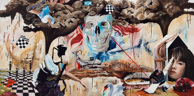 Y.L ids 33 , Oil on canvas , 100x 200 cm , 2012: Woojung Son의 현대 ,모던
