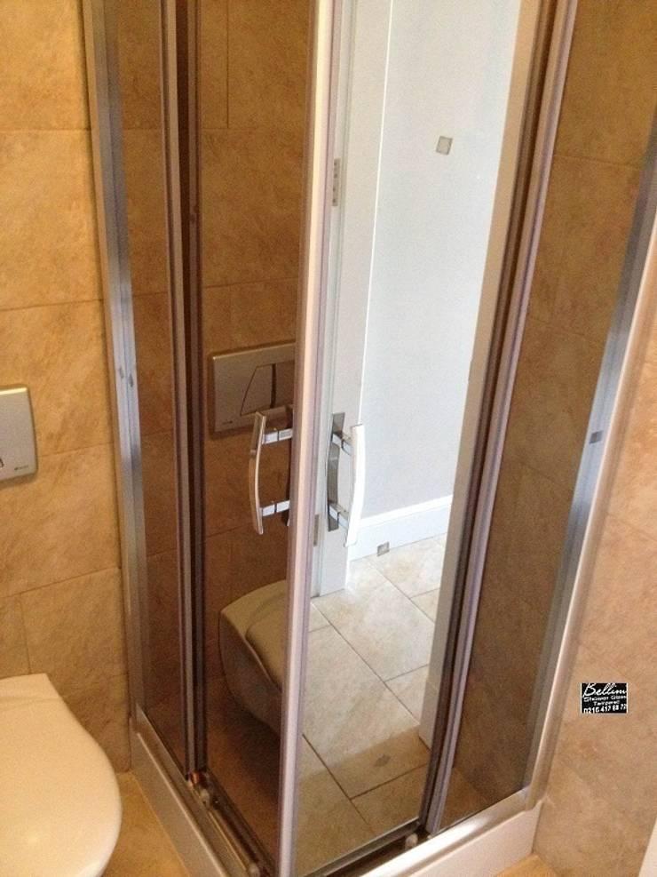 reflektecamdusakabin – Bellinitr /     6mm Bronz Reflektecam Köşe Giriş Duş Kabini: akdeniz tarzı tarz Banyo