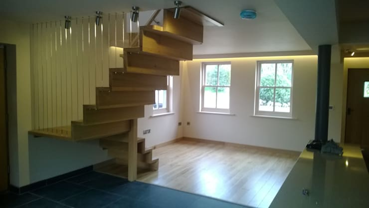 Nook Cottage - Cheshire House Extension and Redevelopment: modern Corridor, hallway & stairs by DOVE architecture