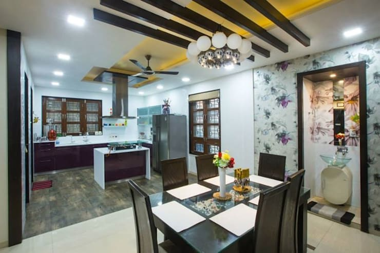 Mr Mulla Residence : classic Dining room by Srujan Interiors & Architects Pvt Ltd