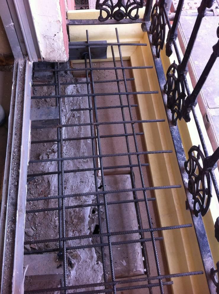 Rehabilitación integral de edificio de viviendas AMPARO 37. estudiocincocincouno 2010: Terrazas de estilo  de estudio551