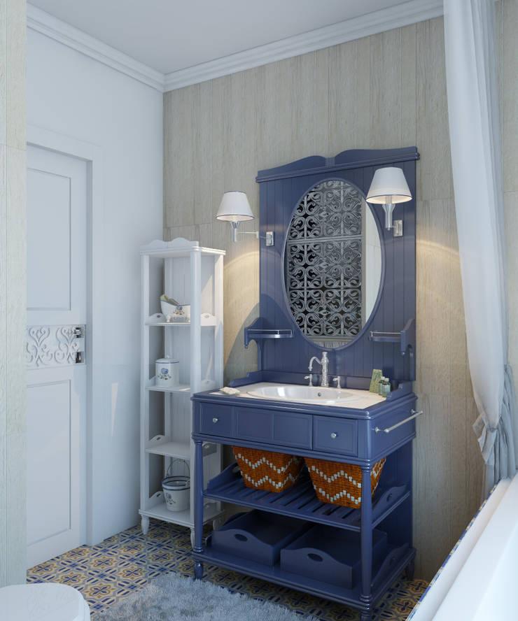 Проект санузла.: Ванные комнаты в . Автор – Частный дизайнер и декоратор Девятайкина Софья