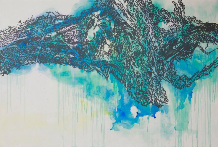 San33-121, acrylic on canvas, 193.9x130.0cm, 2015: Kim Na Hyun 김나현의