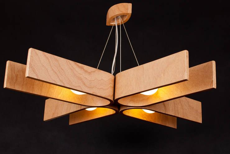 lamp NatUral_1: styl , w kategorii Salon zaprojektowany przez żyrRafo
