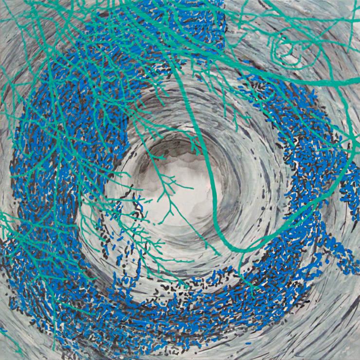 San33-5, acrylic on canvas, 91 x 91cm, 2015: Kim Na Hyun 김나현의