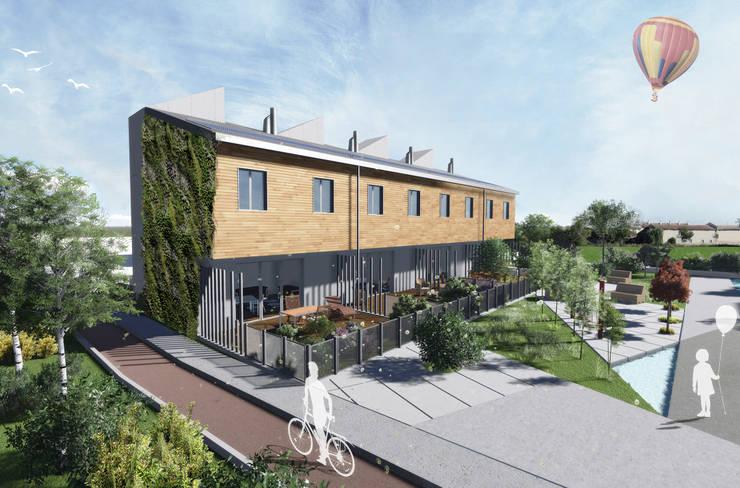 Mild Homes / NZEB Social Housing - Modena: Case in stile  di ia2 studio associato