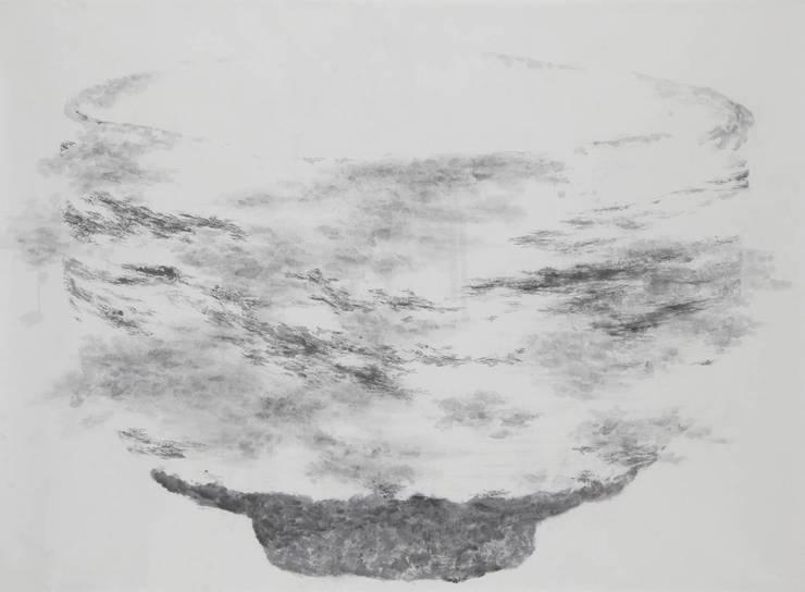 Breath of  Traces,  193.9x130.3cm, korean paper on muk, 2011: 흔적찾기 프로젝트의