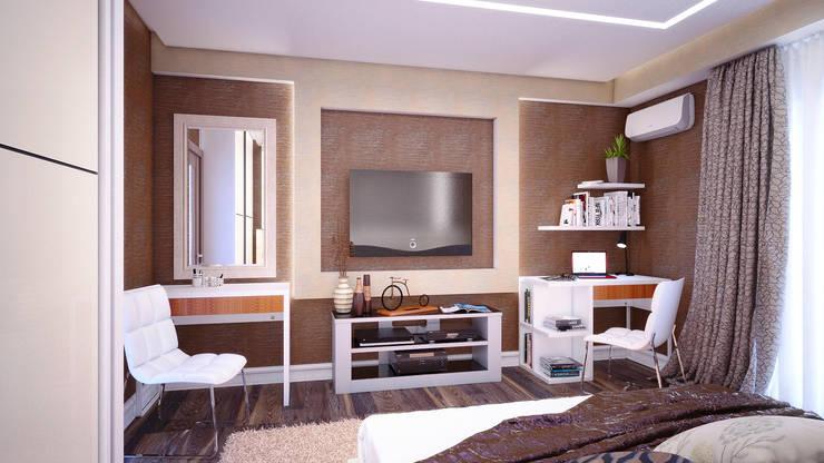 Современный стиль для спальни: Спальни в . Автор – Студия дизайна Interior Design IDEAS