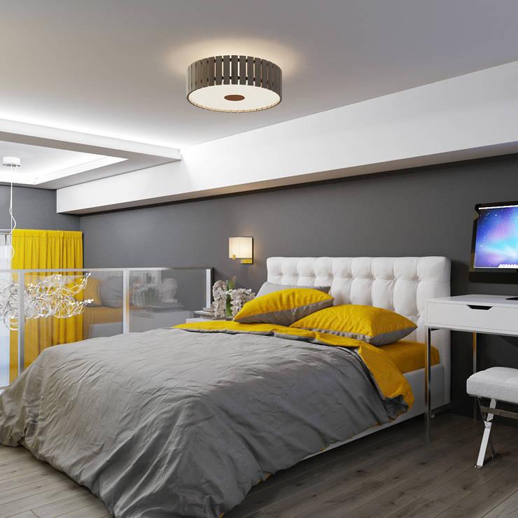 Желтые акценты в интерьере: Спальни в . Автор – Студия дизайна Interior Design IDEAS