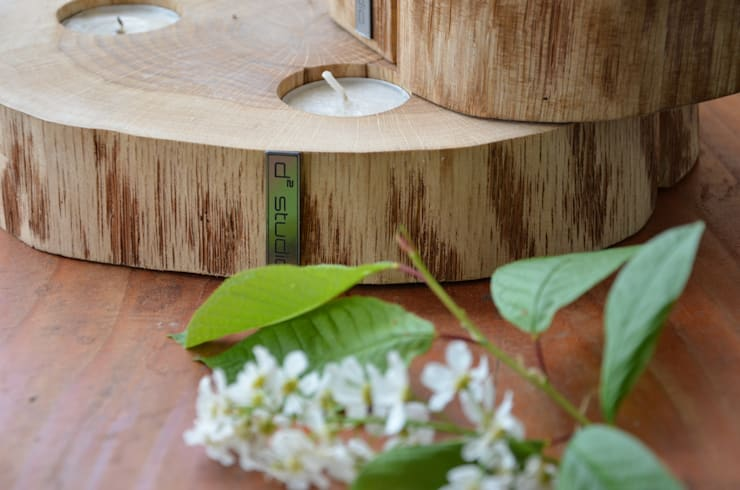 Świecznik / Podstawka LIGHT ME ON: styl , w kategorii Balkon, weranda i taras zaprojektowany przez D2 Studio