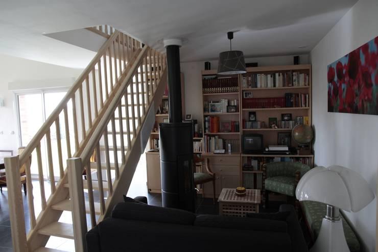 salon:  de style  par Amélie Tremblay-Choteau Architecte d'intérieur