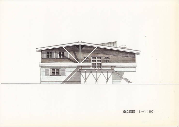 軽井沢Y山荘イメージ・スケッチ: 株式会社ラウムアソシエイツ一級建築士事務所が手掛けたです。