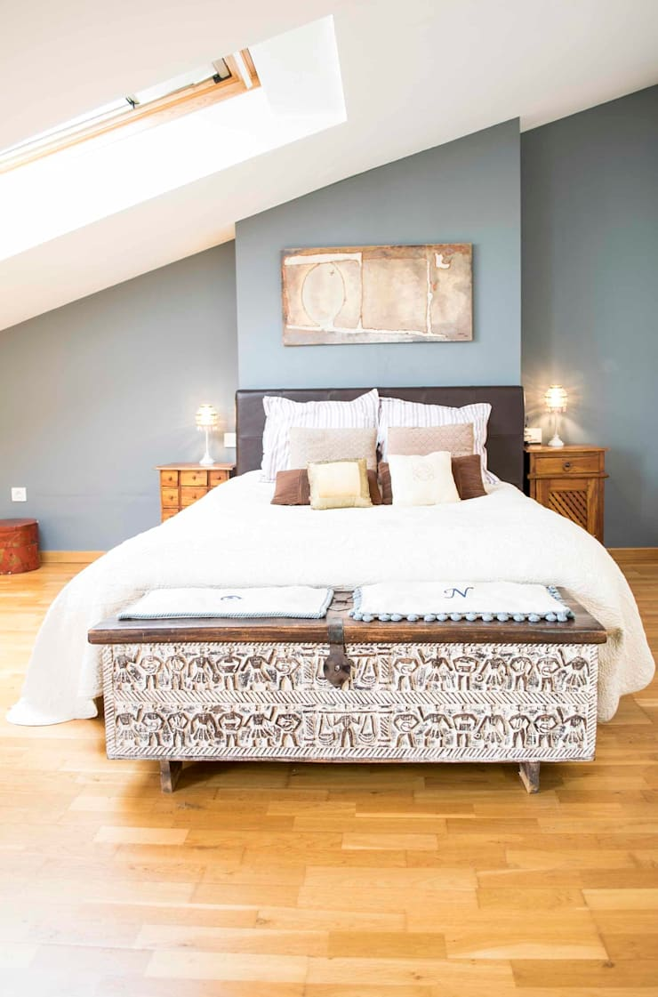 Dormitorio suite Molins de Rei: Dormitorios de estilo escandinavo de muxo Studio