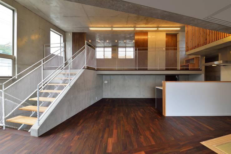 立体の家: プラソ建築設計事務所が手掛けたダイニングです。