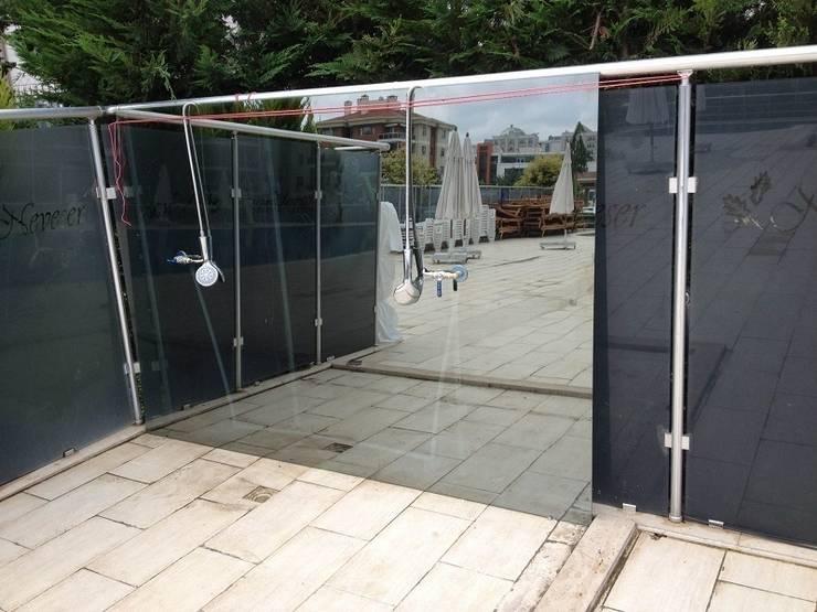 ideal duşakabin – Daha Sonra Temperli Bu camı Getirdik....:  tarz Banyo