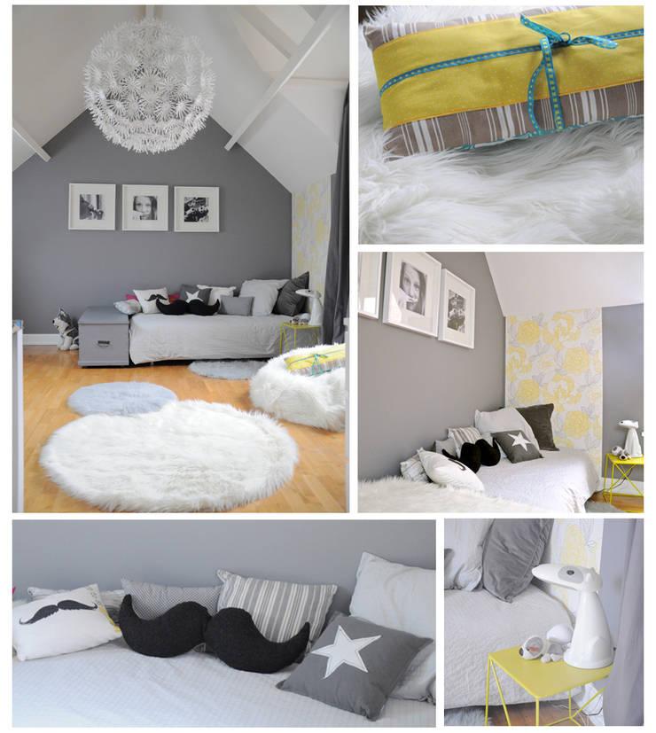 une chambre grise et blanche von idée ô logis   homify