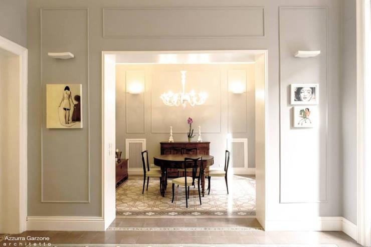 Salas de jantar  por Azzurra Garzone architetto