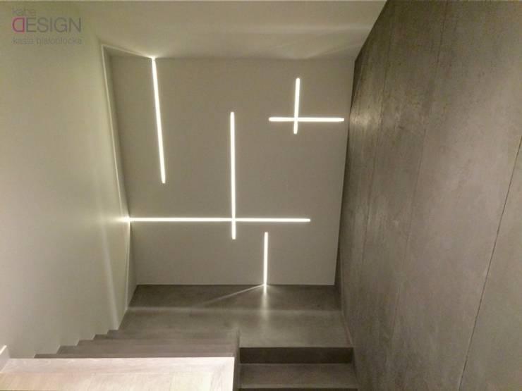 Corridor, hallway & stairs by kabeDesign kasia białobłocka