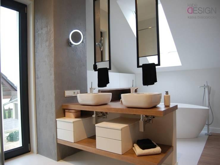 Bathroom by kabeDesign kasia białobłocka