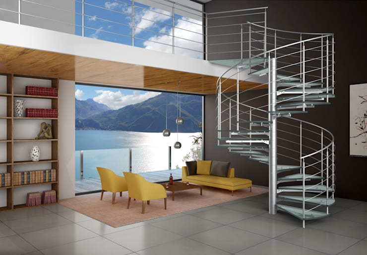 Corridor, hallway & stairs  by IAM Design