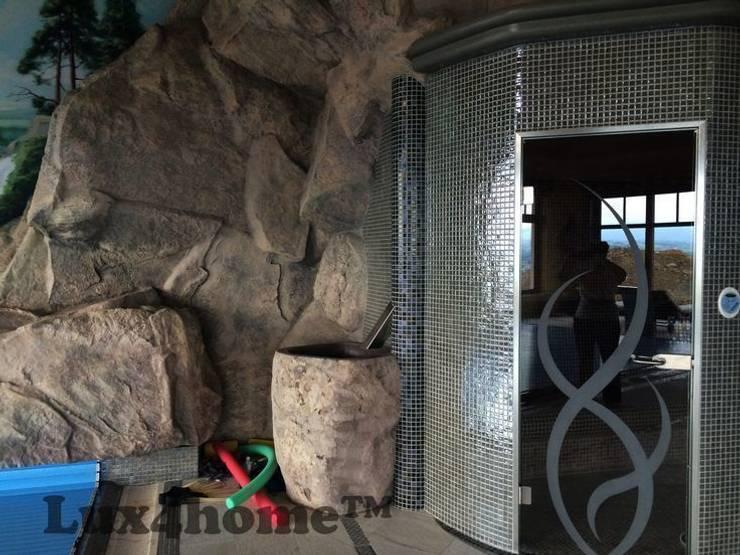 Stojąca umywalka z kamienia polnego: styl , w kategorii Łazienka zaprojektowany przez Lux4home™