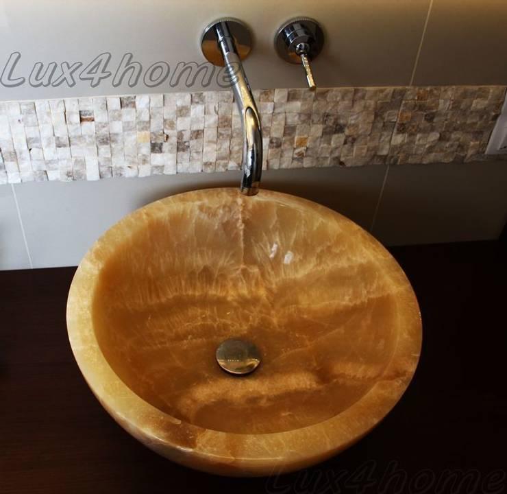 Umywalki z onyksu na blat - umywalki onyksowe: styl , w kategorii Łazienka zaprojektowany przez Lux4home™