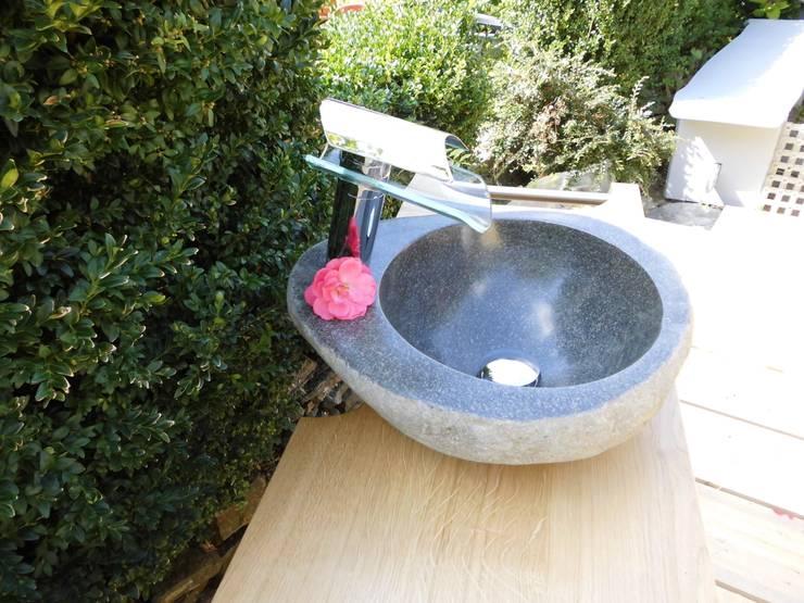 Waschbecken aus Stein:  Badezimmer von Ihre Holzmanufaktur