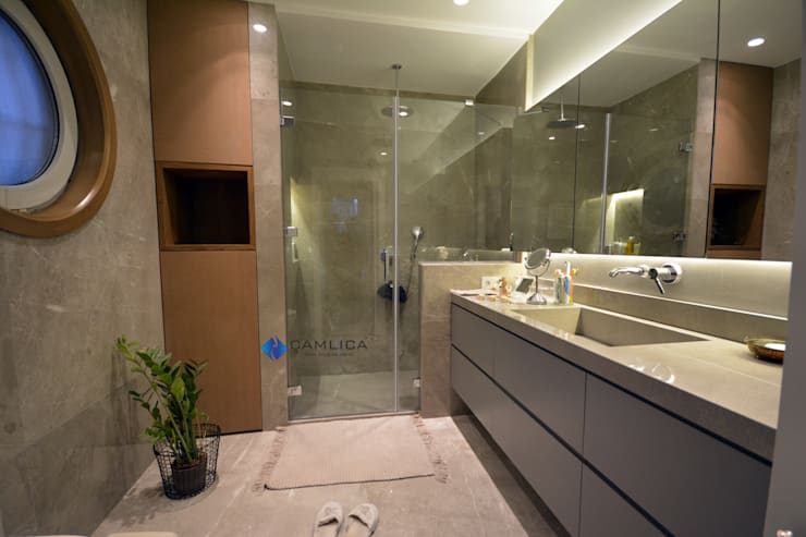 Creative Duşakabin – Banyo Cam Kapıları:  tarz Banyo