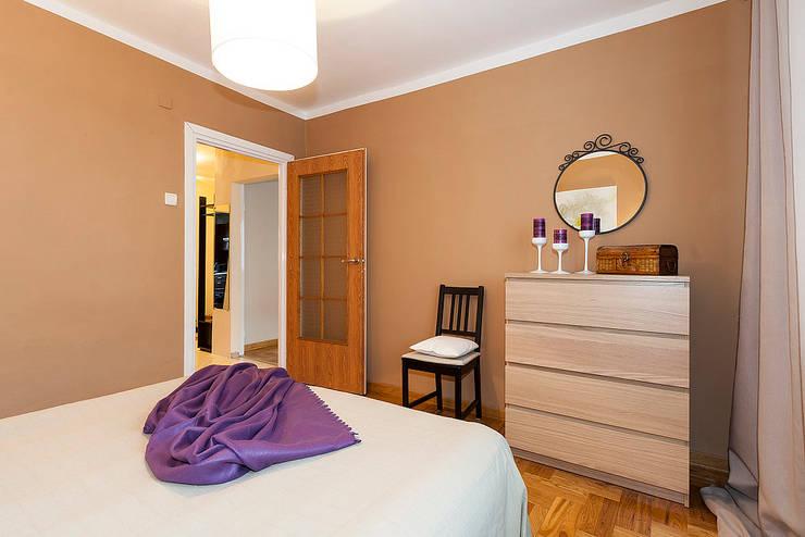 Sypialnia po zmianie: styl , w kategorii  zaprojektowany przez Home Staging Studio AP