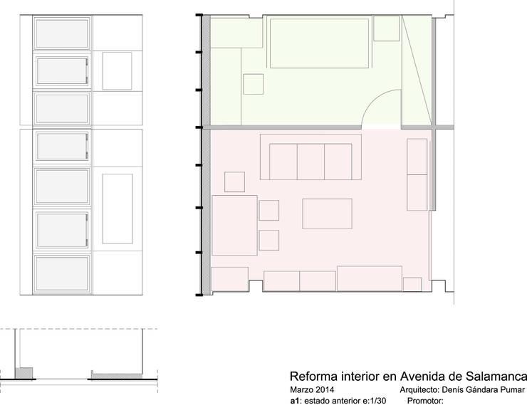 plano planta estado anterior:  de estilo  de Estudo de Arquitectura Denís Gándara