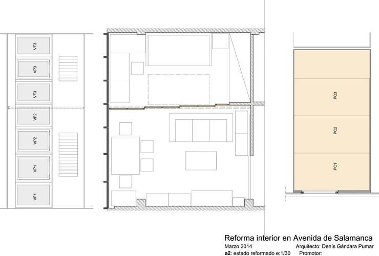 Plano planta estado reformado:  de estilo  de Estudo de Arquitectura Denís Gándara