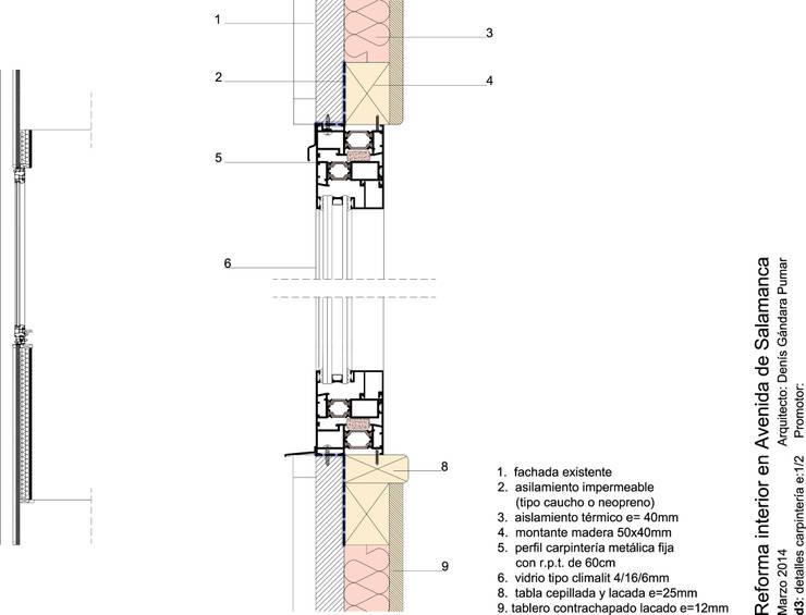 Seccion detalle:  de estilo  de Estudo de Arquitectura Denís Gándara