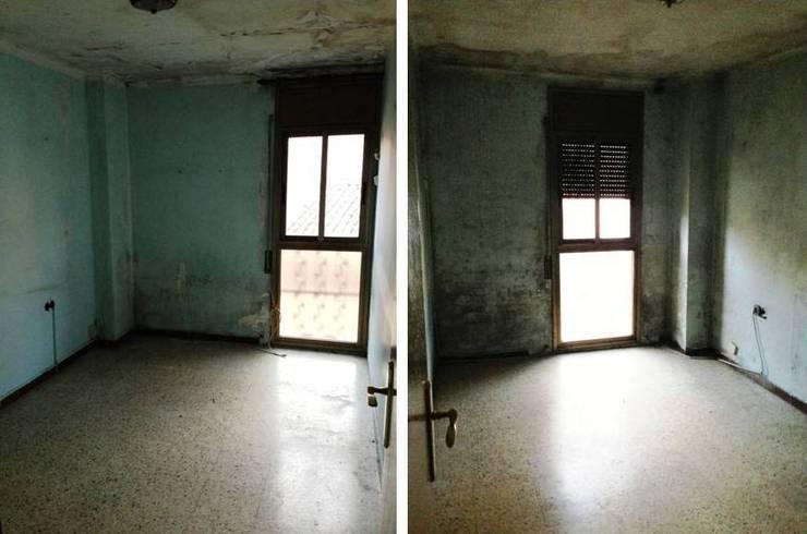 ANTES dormitorio suite:  de estilo  de RENOVA INTERIORS
