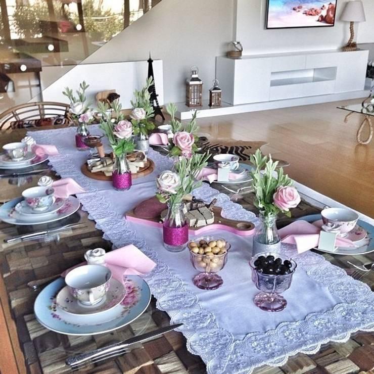Dekorluk – Dekorluk şık masalar için runner:  tarz Yemek Odası