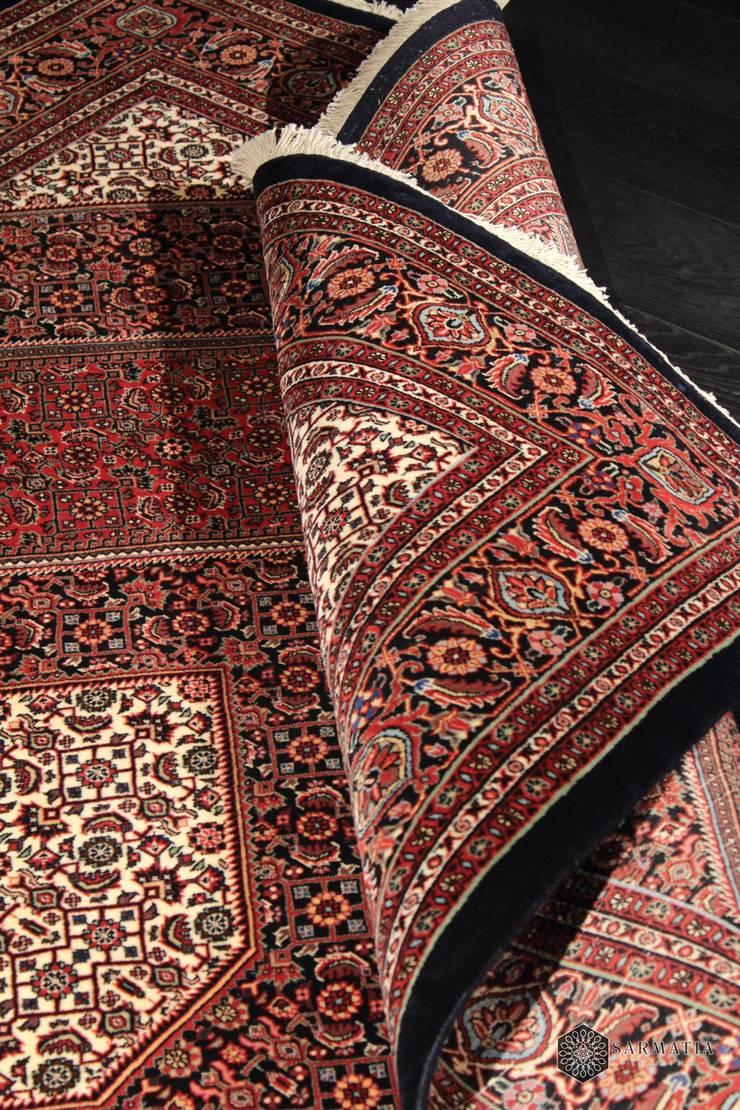 Bidjar Arossbaft, Iran, 167x238, wełna kurk z jedwabiem: styl , w kategorii Salon zaprojektowany przez Sarmatia Trading