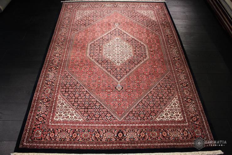 Bidjar Arossbaft, Iran, 167x238, wełna kurk z jedwabiem: styl , w kategorii Domowe biuro i gabinet zaprojektowany przez Sarmatia Trading