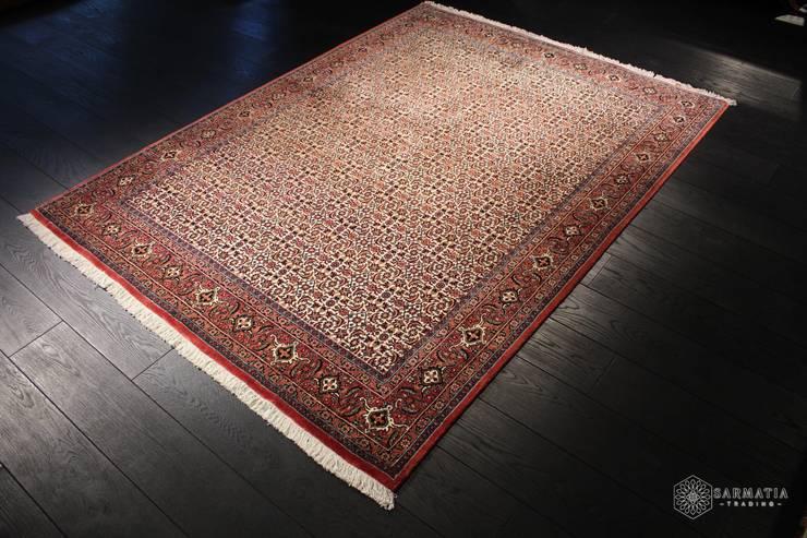 Bidjar Garrus, Iran, 173x235, wełna kurk z jedwabiem: styl , w kategorii Salon zaprojektowany przez Sarmatia Trading