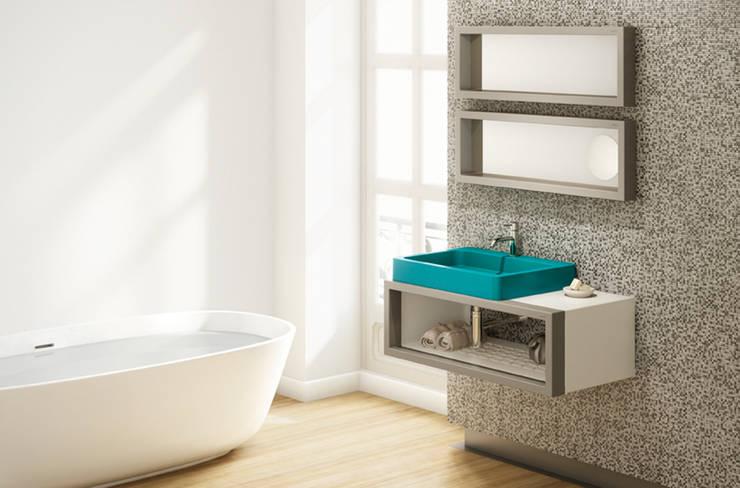 Lavabo TIPO sobre mueble CASCO- BO!NG: Baños de estilo  de Boing Original