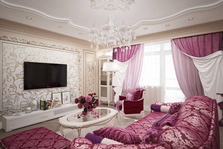 Гостиная в Тольятти: Гостиная в . Автор – VITTA-GROUP