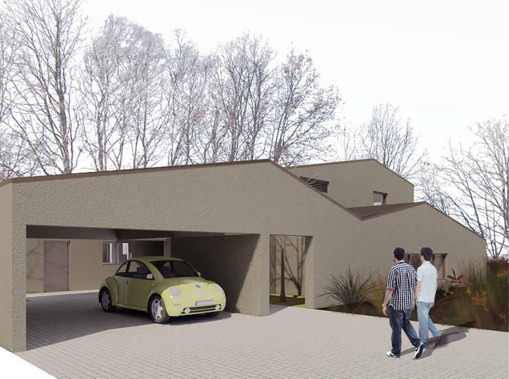 Casapanal: Garajes de estilo  de soma [arquitectura imasd]