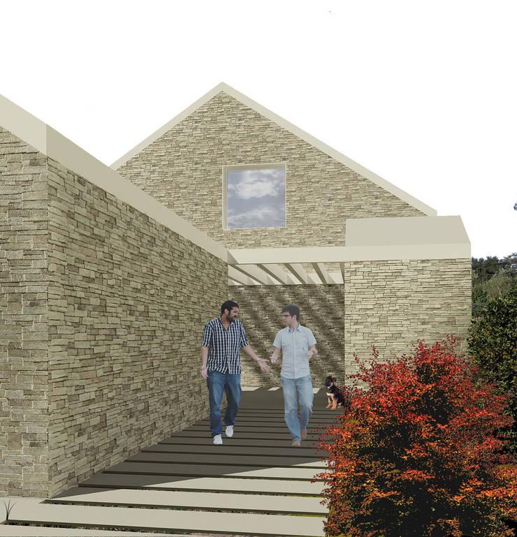 La Casa Pilates: Casas de estilo  de soma [arquitectura imasd]