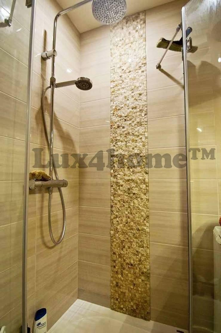 Kamień naturalny na ścianie od Lux4home™ Łupek z kamienia na ścianę: styl , w kategorii Łazienka zaprojektowany przez Lux4home™
