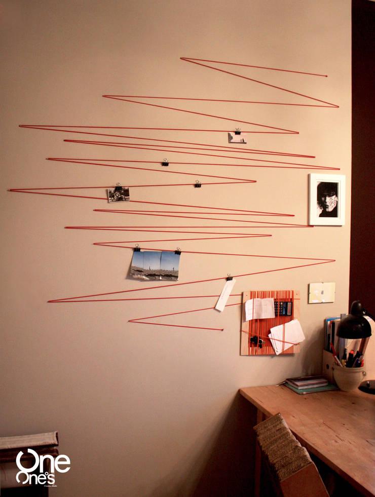 String Out! wall: styl , w kategorii Pomieszczenia biurowe i magazynowe zaprojektowany przez OneOnes Creative Studio