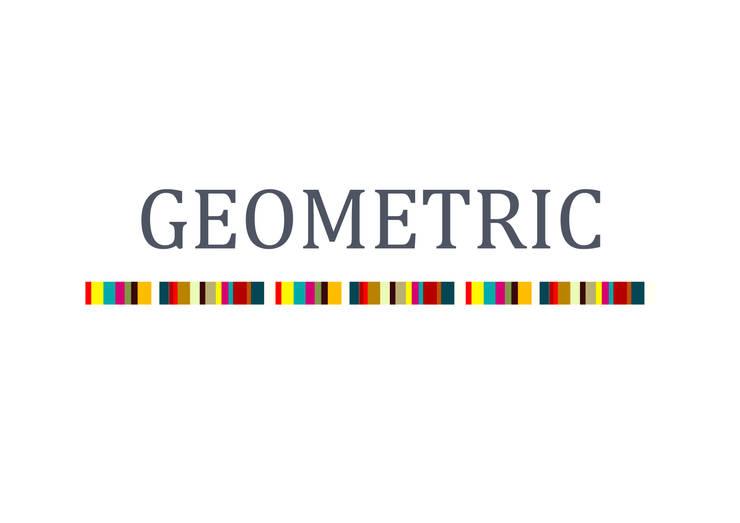 Kolekcja GEOMETRIC: styl , w kategorii Salon zaprojektowany przez Wzory i Kolory