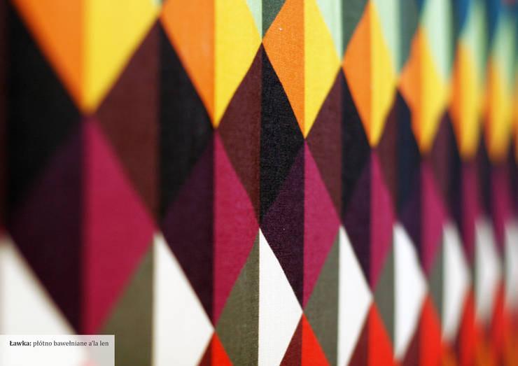 Tapicerka ławki: styl , w kategorii Salon zaprojektowany przez Wzory i Kolory