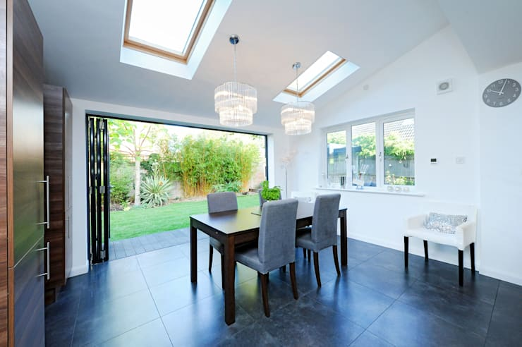 Kitchen Extension with Bi Folding Doors:  Windows  by ROCOCO