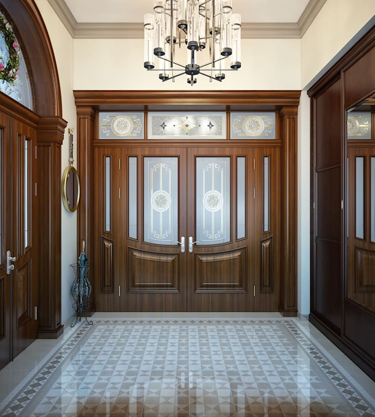 Corridor and hallway by Sweet Home Design,