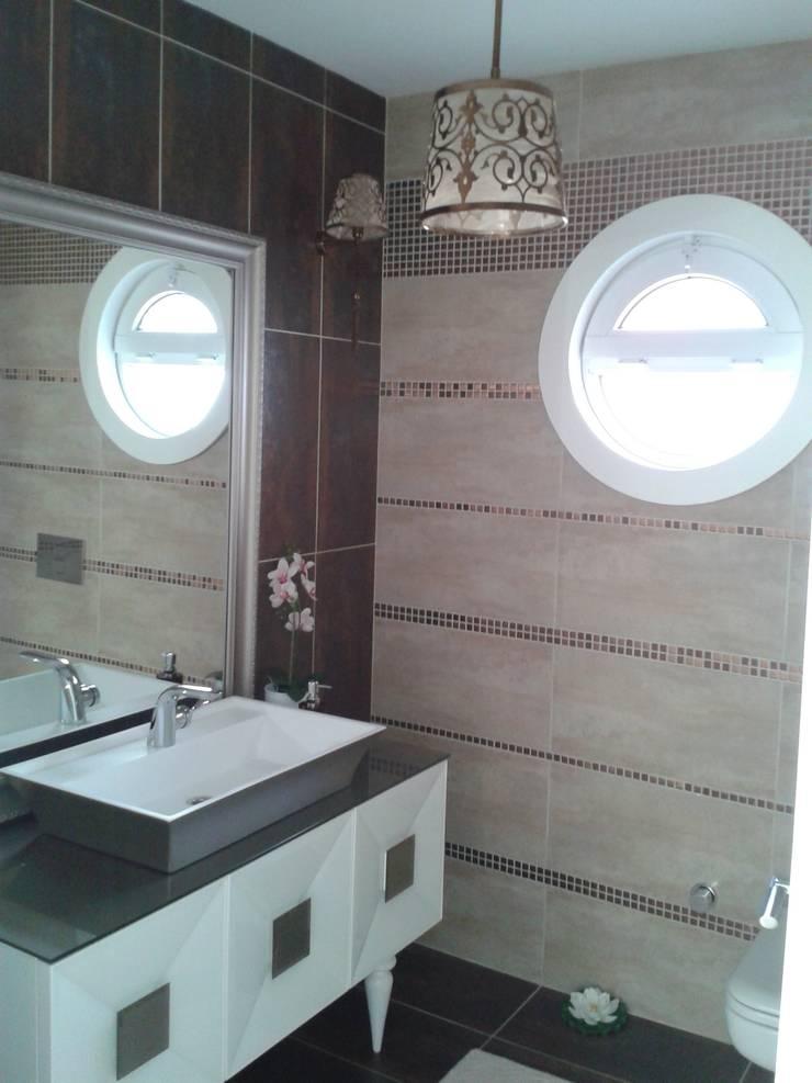Vizyon Mimarlık ve Dekorasyon – Ş&T.Ü  Evi / Kırklareli:  tarz Banyo