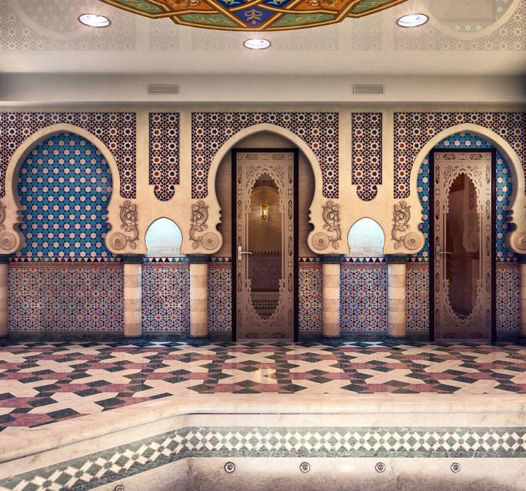 Бассейн в восточном стиле в частном доме: Бассейн в . Автор – Sweet Home Design